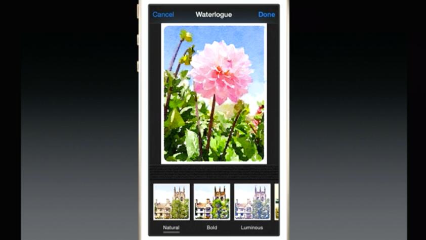 "An ""extension"" in the iOS Photos app"