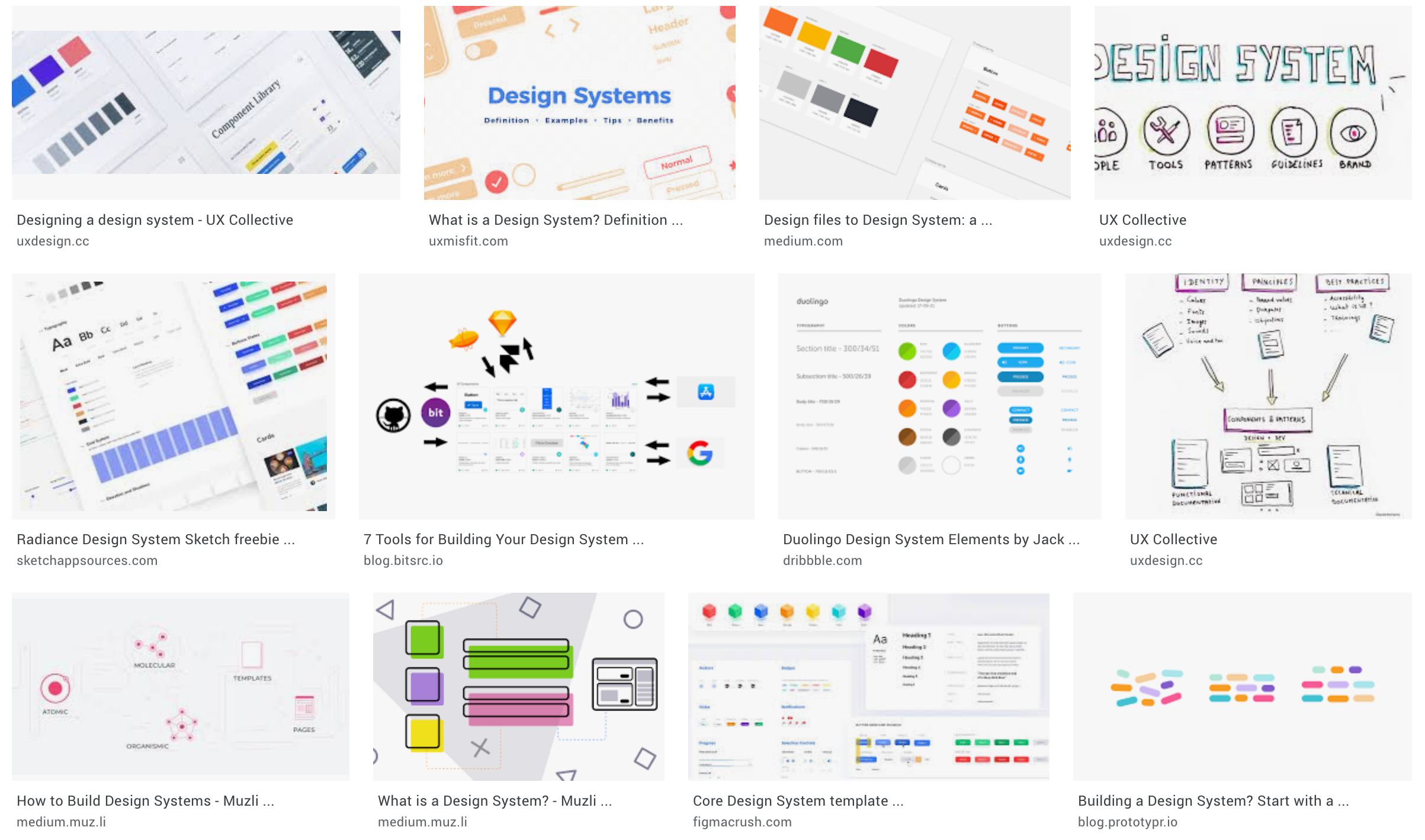 You can do better than to create a design system